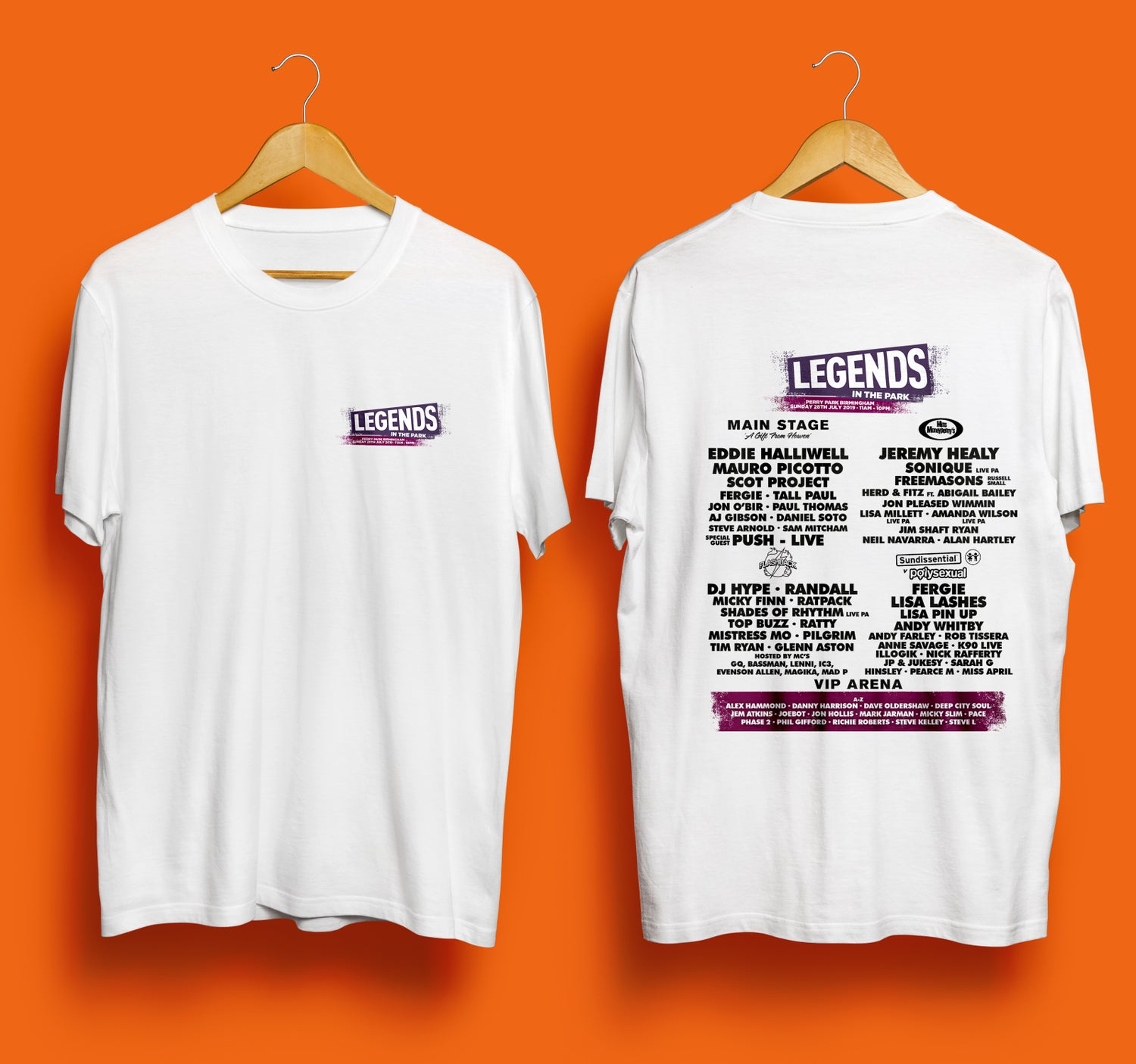 Image of Legends In The Park 2019 - White T-Shirt
