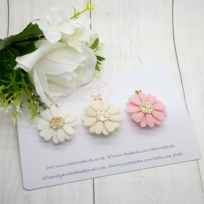 Image of CHOOSE YOUR COLOUR -  Single Daisy Headband or Clip - choice of 50 Colours