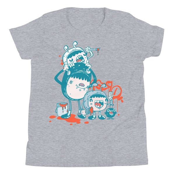 Image of Kid's T-shirt design 2 - Youth Premium Tee | Bella + Canvas 3001Y - Unisex (Athletic Heather Grey)
