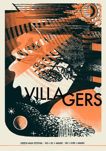Image of VILLAGERS poster- Green Man 2019