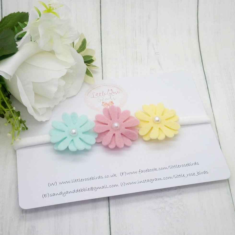 Image of Pastel Daisy Chain Headband