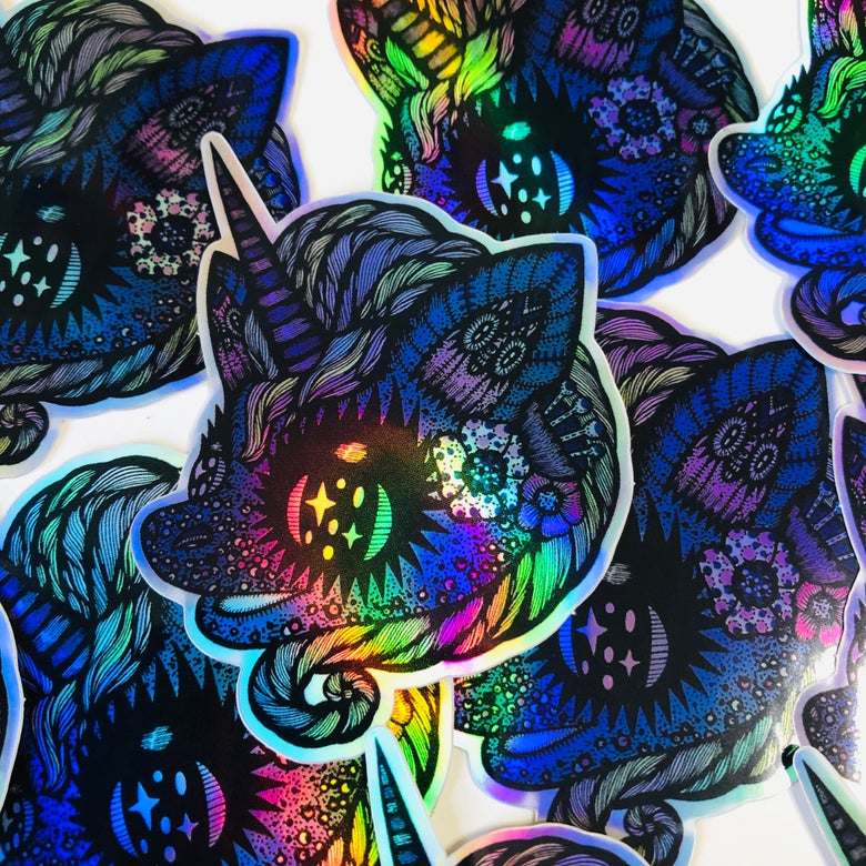 Image of Unicorn holographic sticker
