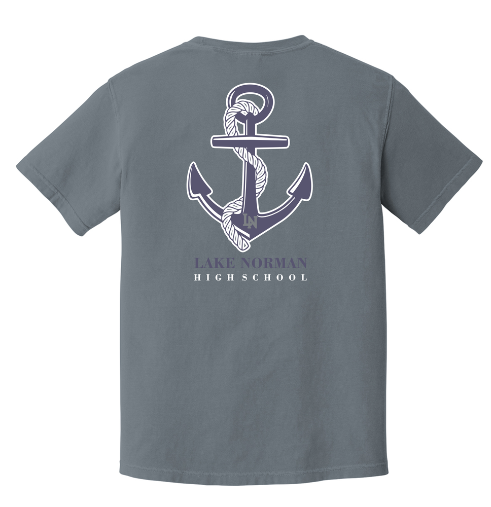 Image of Anchor Tee - Comfort Colors Platinum Gray