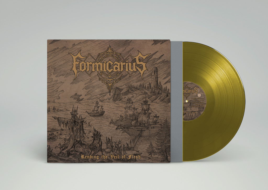 Image of GATEFOLD VINYL LP (gold) Rending the Veil of Flesh - Pre-Order