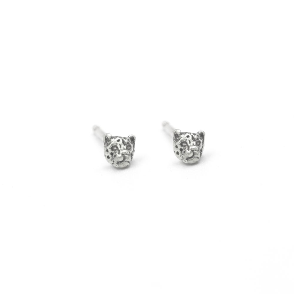 Image of Little Leopard Studs- Silver