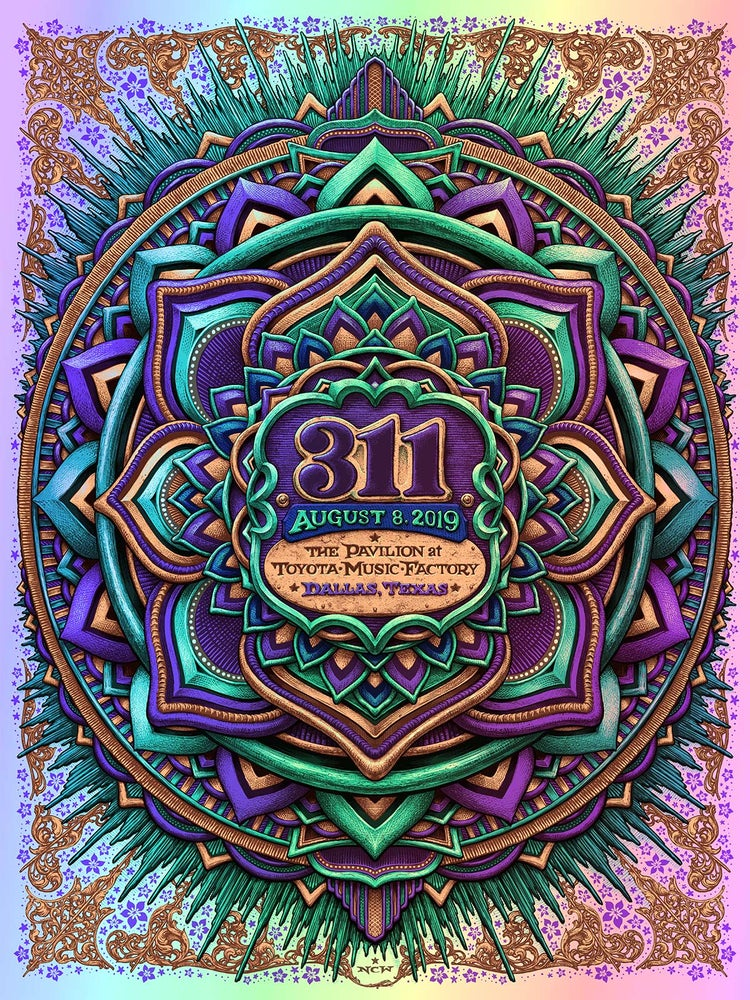 Image of 311 Gig Poster- Dallas Toyota Music Factory