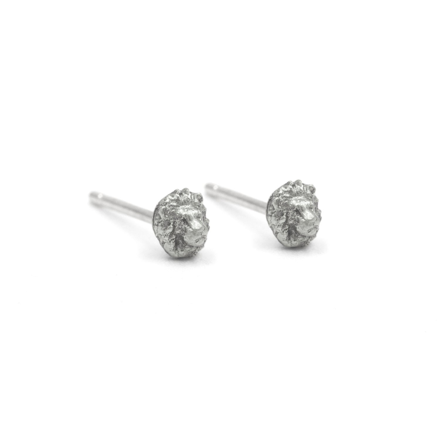 Image of Tiny Lion Studs- Silver