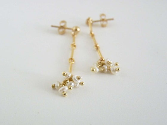 Image of Crew pearl earrings