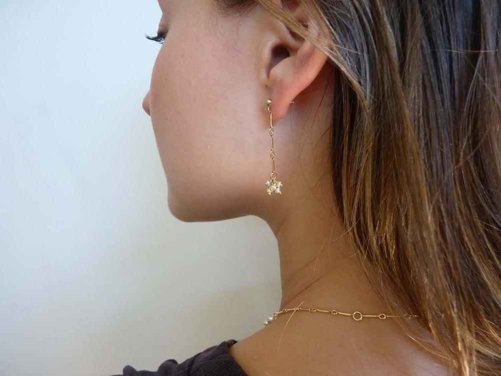 Image of Crew pearl earrings