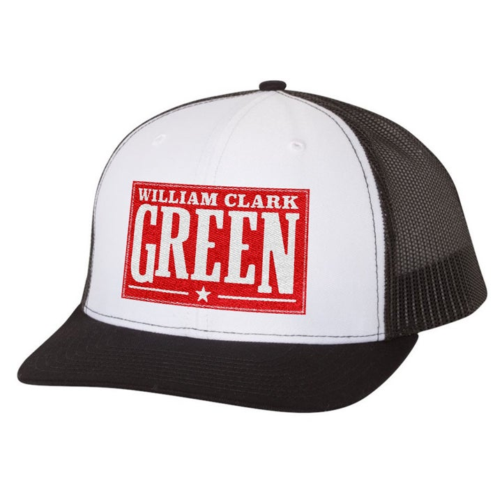 Image of Red Patch Hat - White Front