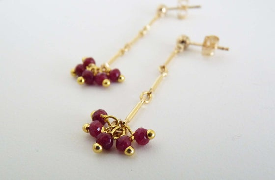 Image of Crew ruby earrings