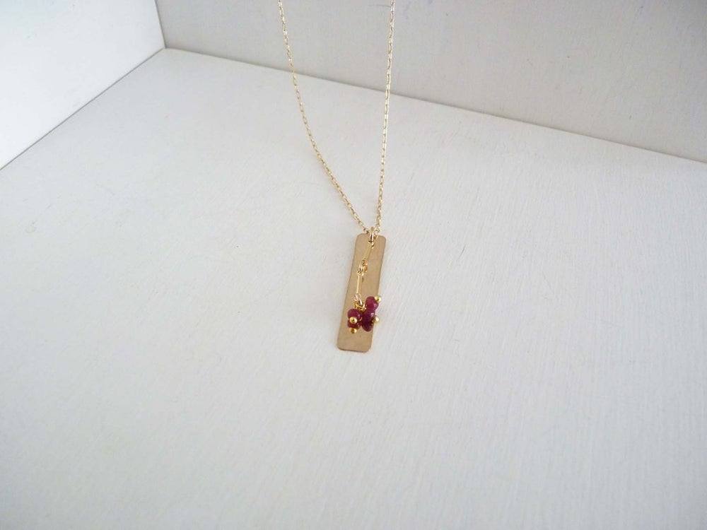 Image of Crew ruby necklace