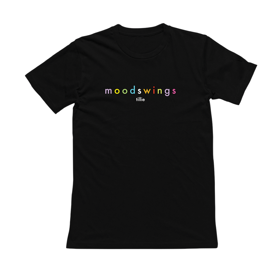 Image of mood swings rainbow tee