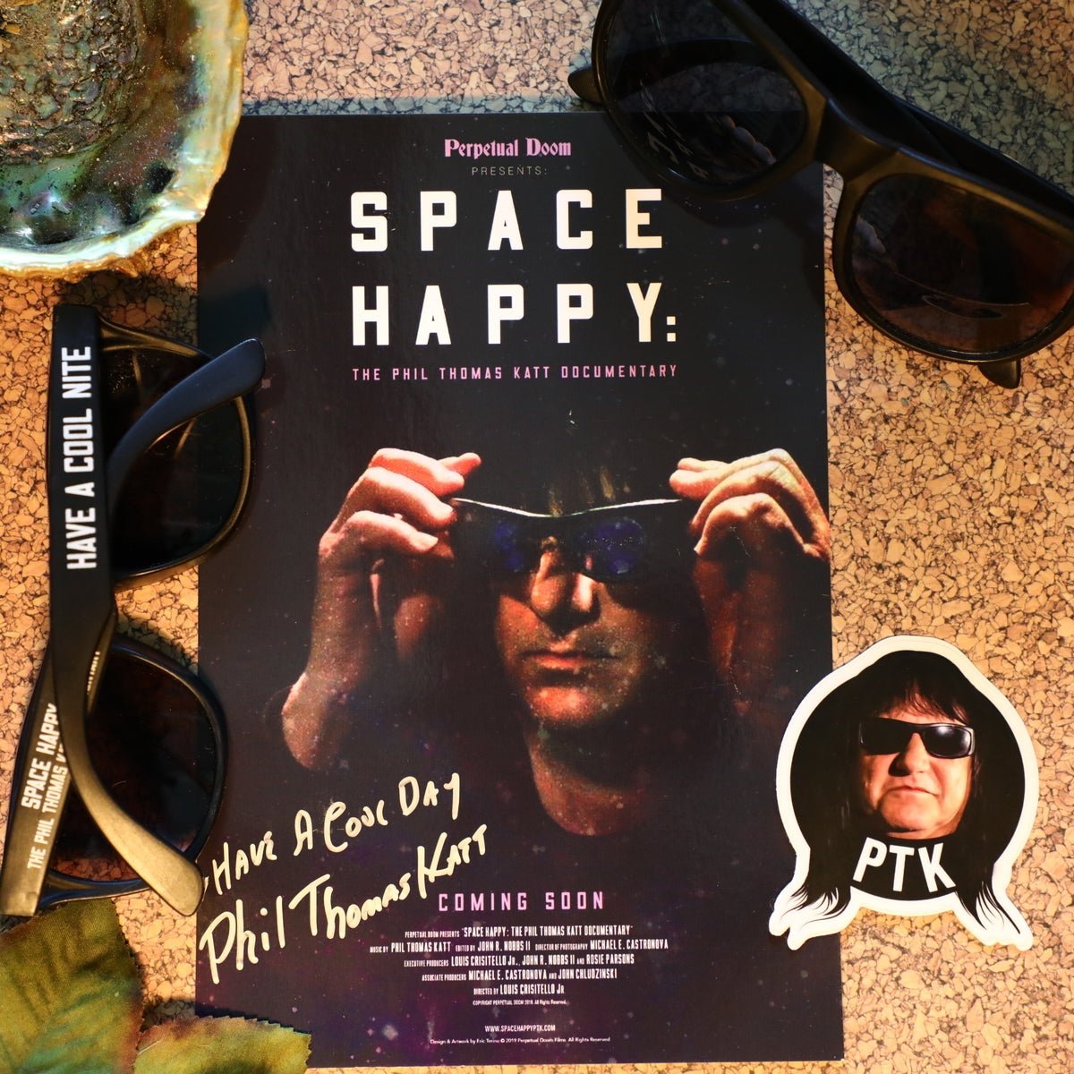 Image of Space Happy: The Phil Thomas Katt Pack 🕶️ (w/ Bonus Mark Gormley Sticker)