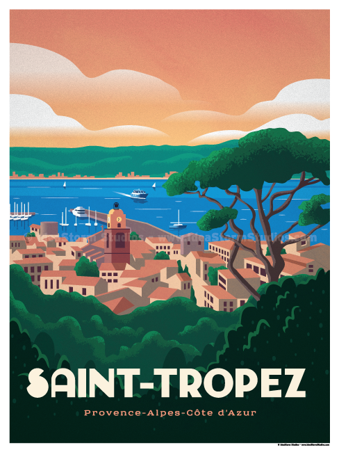 Image of Saint Tropez Poster
