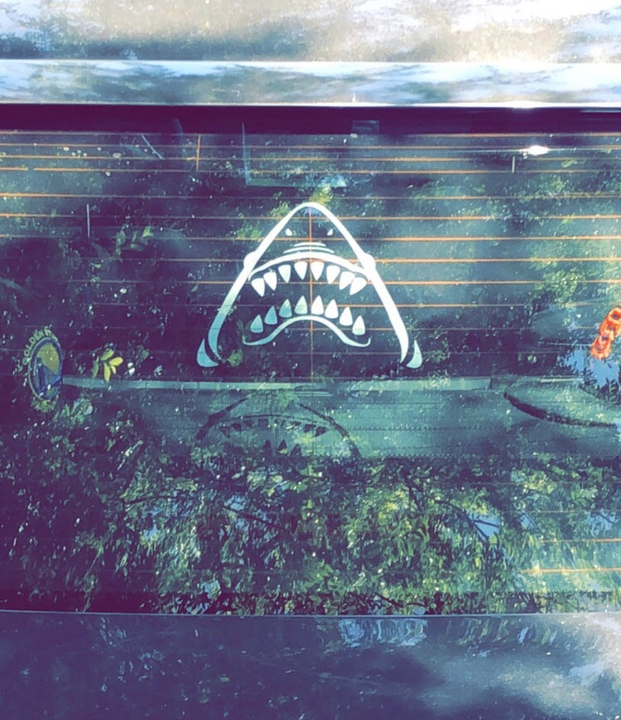 Image of SharkHead vinyl decal stickers