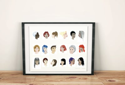 Image of A3 Women's Faces Poster ♀️