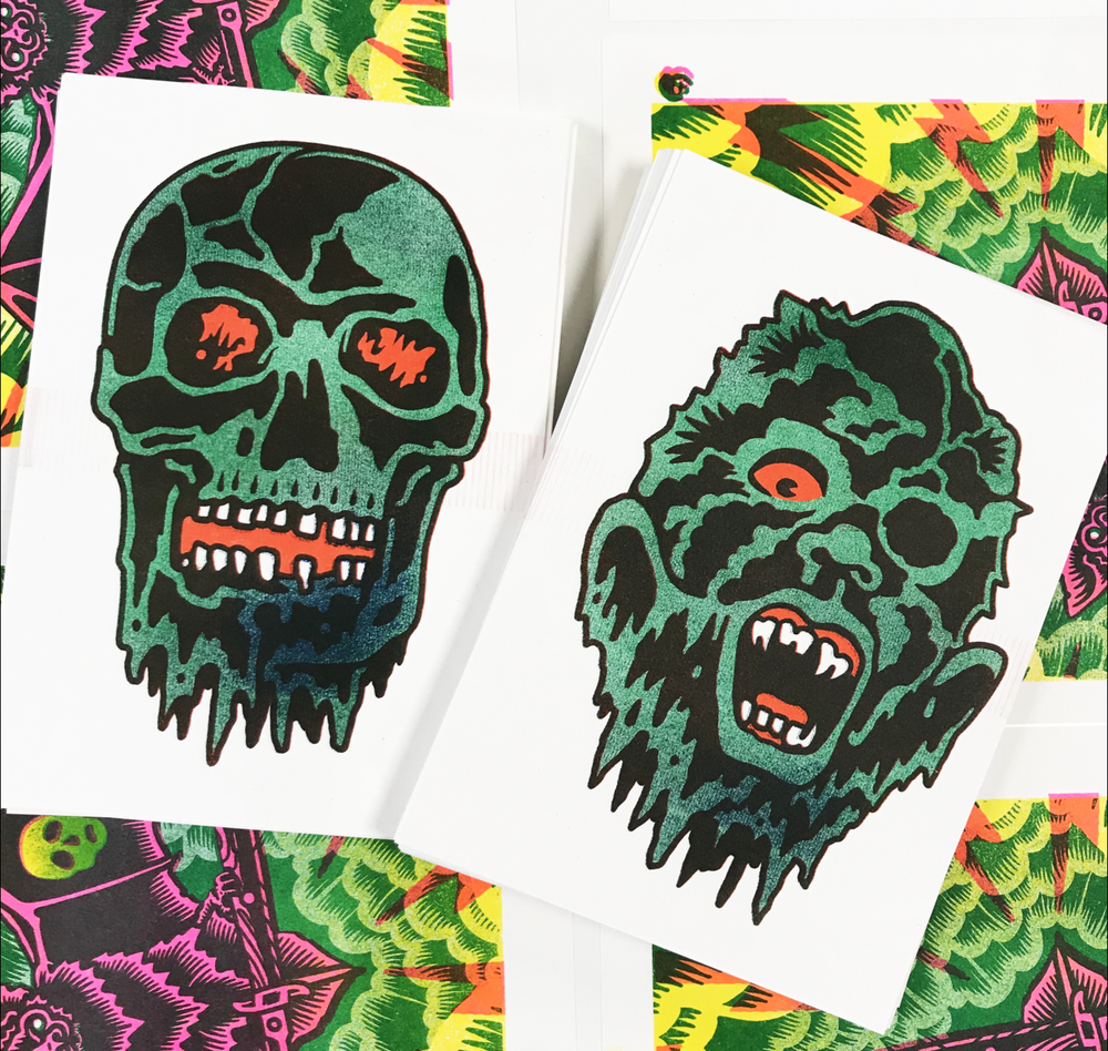 Image of GHOUL DUO - Riso Print