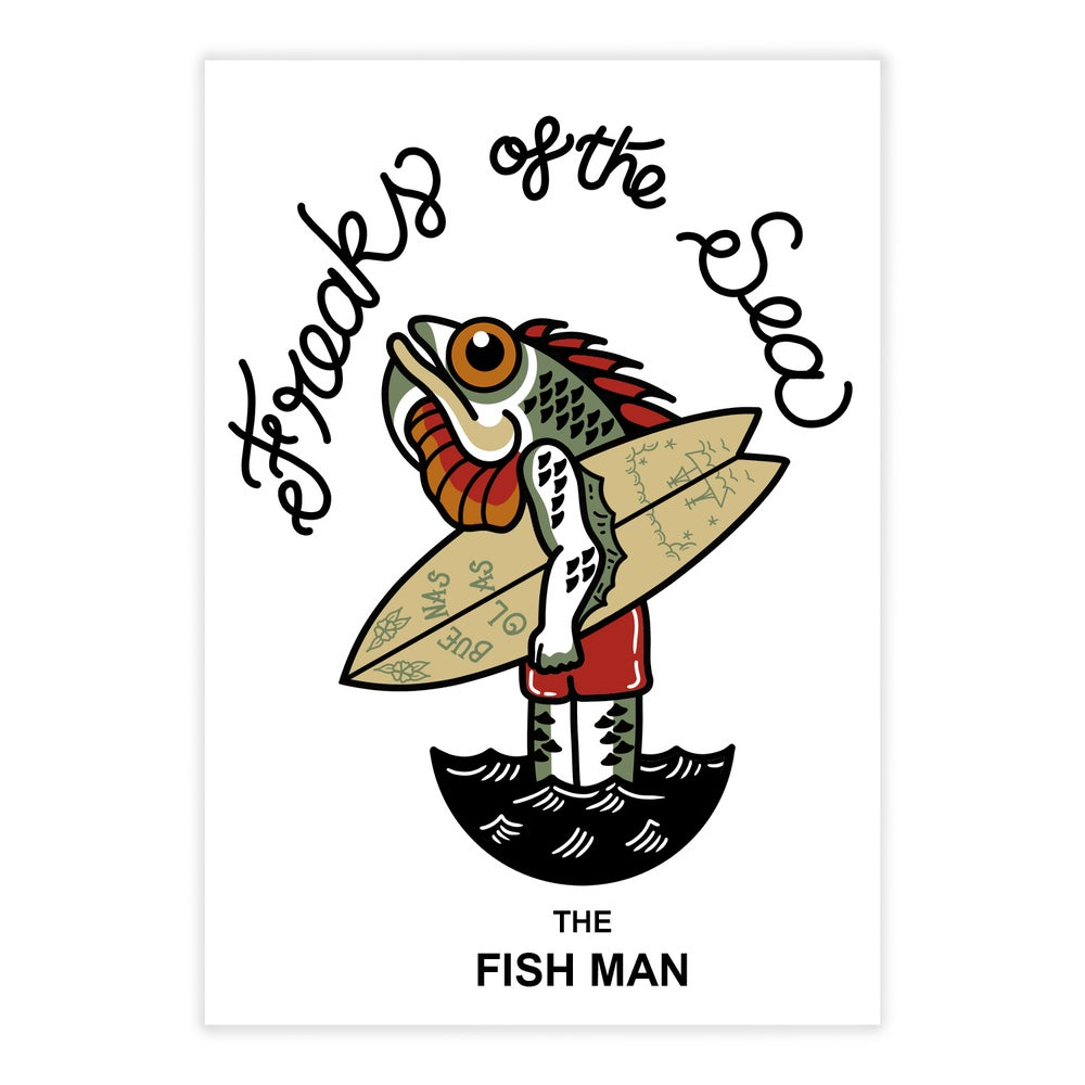 Image of Fish man sticker