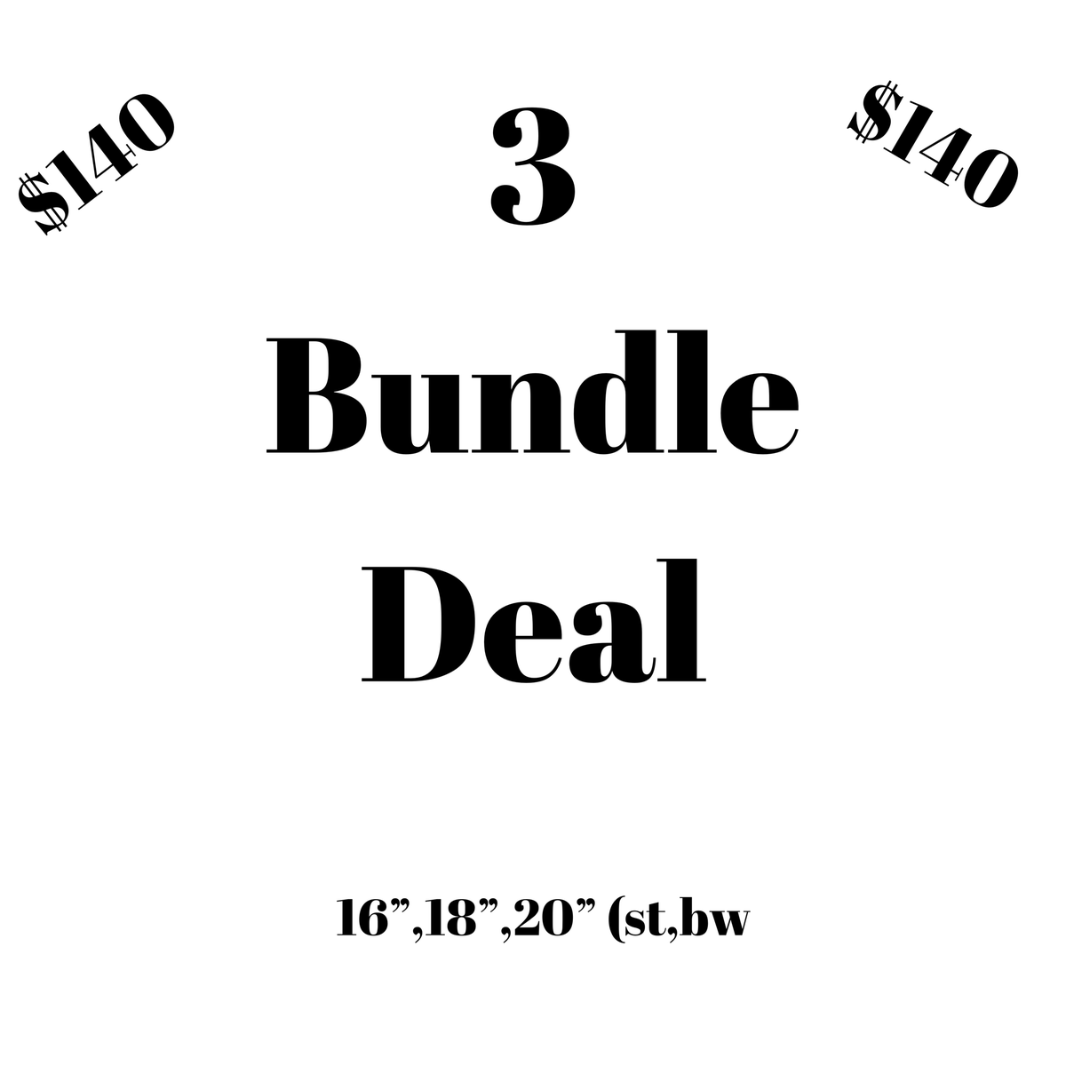 Image of 3 Bundle Deal
