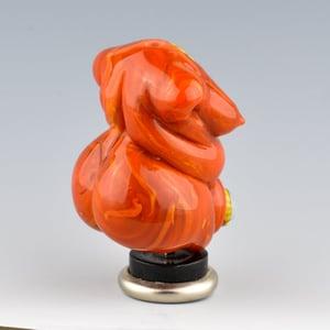 Image of XL. Curvy Pumpkin Goddess- Lampwork Sculpture Bead