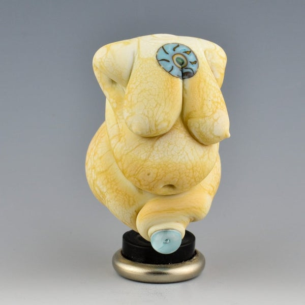Image of XL. Curvy Ivory Goddess- Lampwork Sculpture Bead