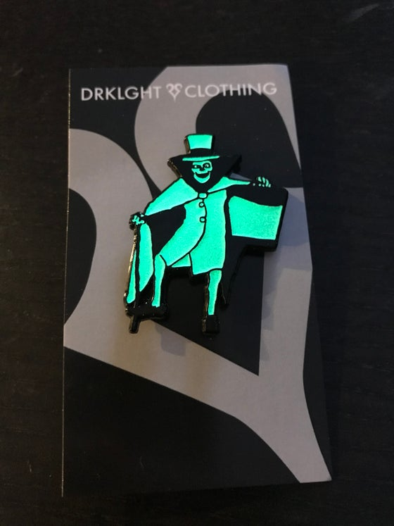 Image of Hatbox Ghost Enamel Pin