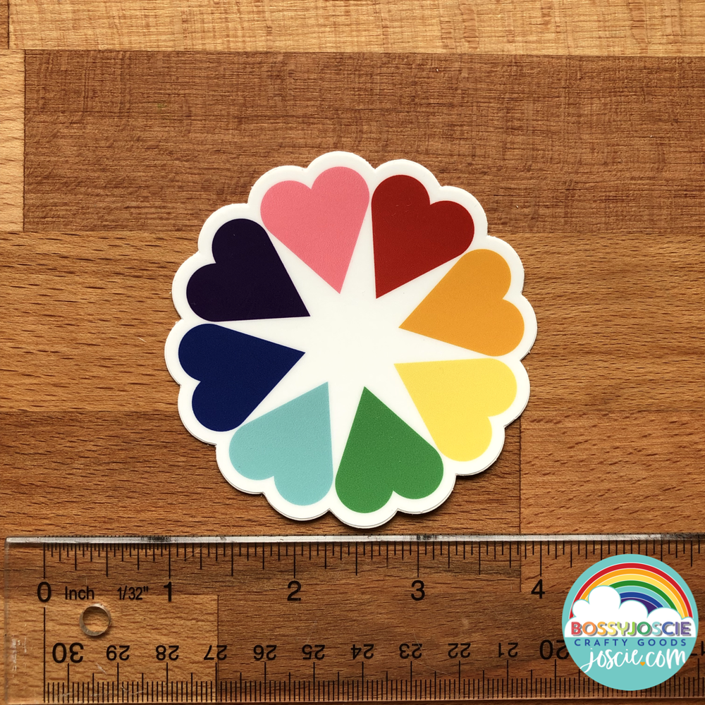 Image of Rainbow Hearts Sticker