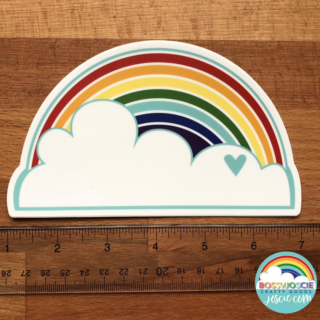Image of XL Rainbow and Cloud Sticker
