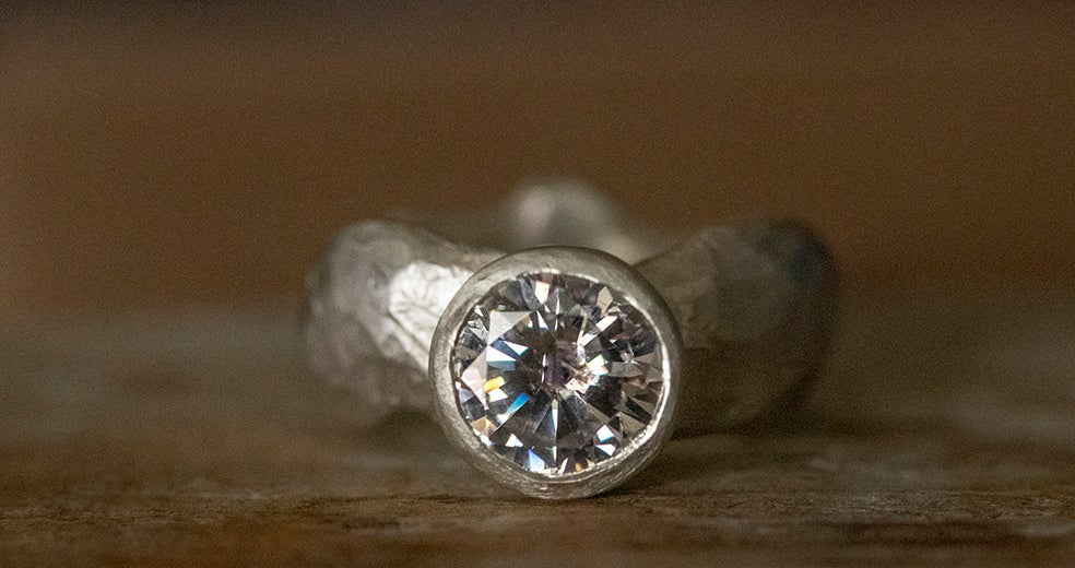 Image of 'Bling Ring' Maxi | Recycled Silver Ring with Cubic Zirconia