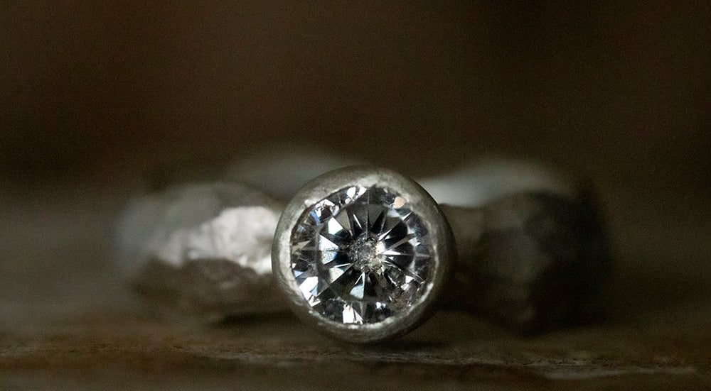 Image of 'Bling Ring' Midi | Recycled Sterling Silver Ring with Cubic Zirconia