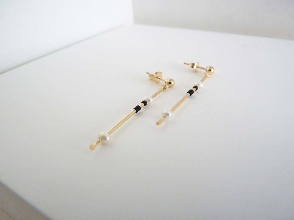 Image of Tux earrings