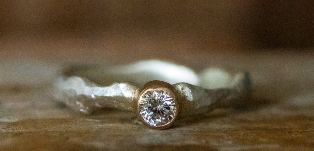 Image of 'Bling Ring' Mini | Recycled Sterling Silver Ring with Cubic Zirconia