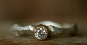 Image of 'Bling Ring' Mini   Recycled Sterling Silver Ring with Cubic Zirconia