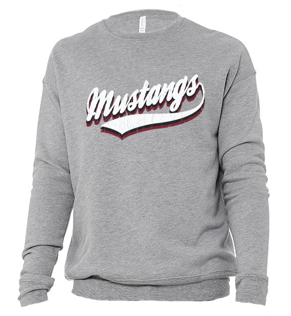 Image of DCS VINTAGE Mascot SWEATSHIRT - MUSTANGS