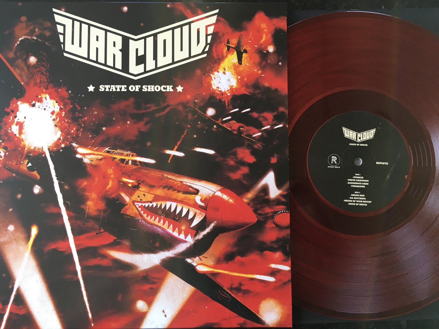 "Image of War Cloud - State of Shock Limited ""Fog of War"" Red Vinyl LP"