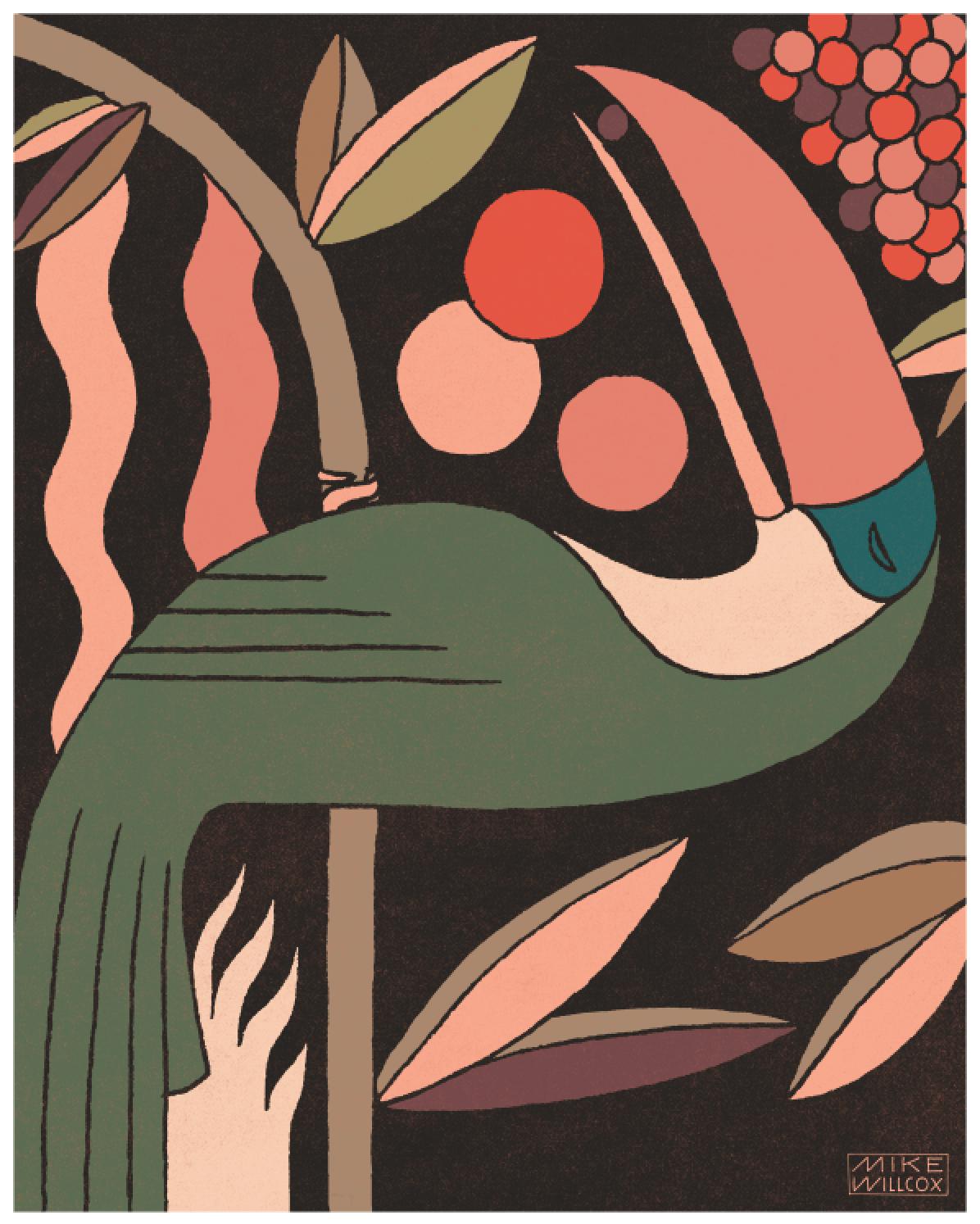 "Image of Toucan Rainforest Donation Print 8""x10"""