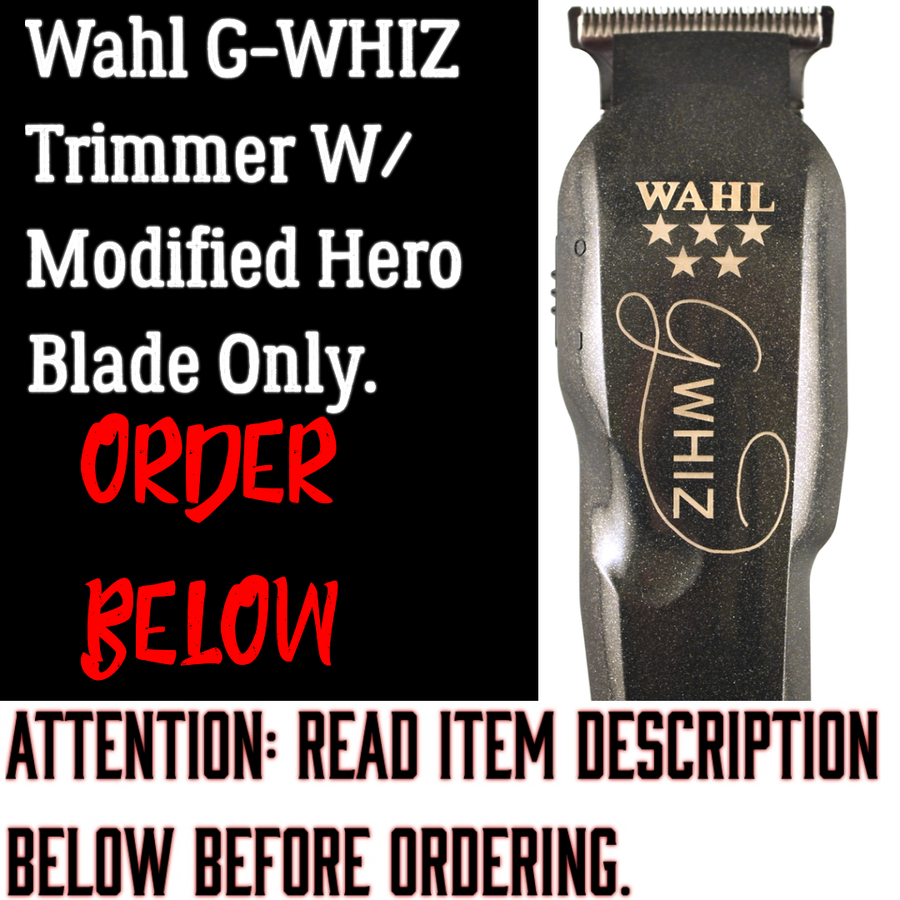 Image of (3 Week Delivery/High Order Volume)Wahl G-WHIZ Trimmer W/Modified Hero Blade