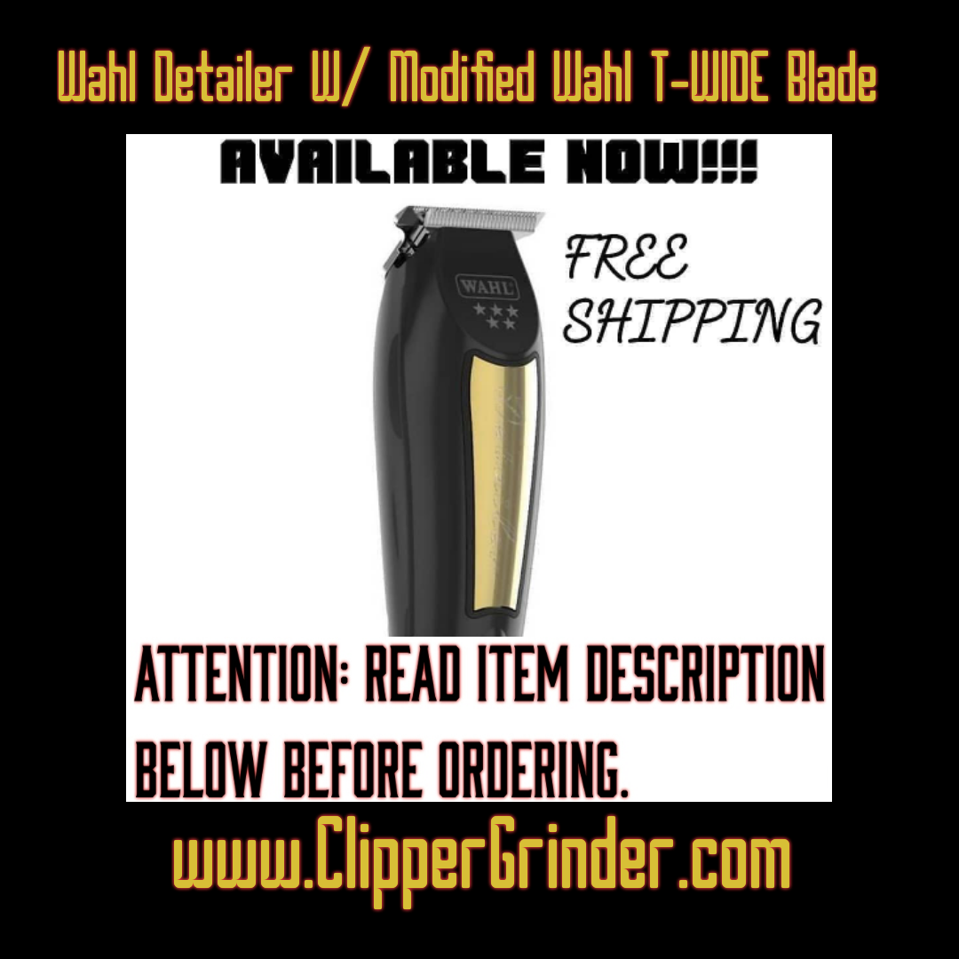 Image of Black & Gold Wahl Detailer / Includes Modified Wahl 5 🌟 T-Wide Blade (Delivery info below)