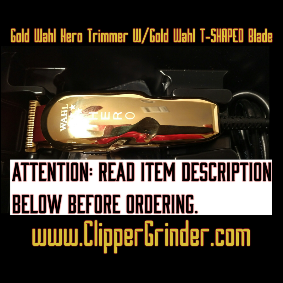 "Image of (3-4 Week's Delivery/High Order Volume) Gold Hero Trimmer W/ Gold ""Modified"" Hero Blade"