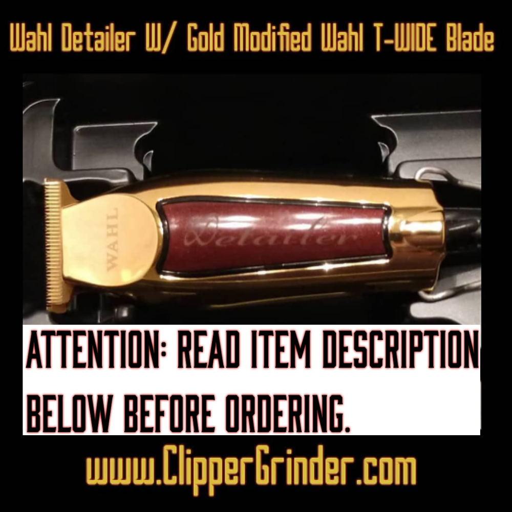 Image of (3 Week Delivery/High Order Volume) Gold Wahl Detailer Trimmer W/Gold Modified Blade