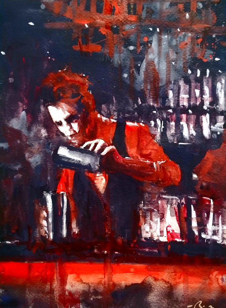 Image of Bartender In Red prints