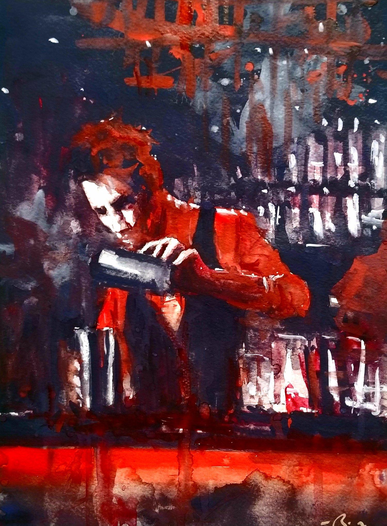 Image of Bartender In Red prints