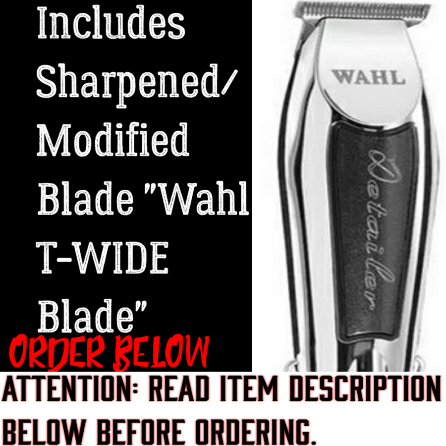 Image of (3 Week Delivery/High Order Volume) Black Wahl Detailer / Includes Modified T-Wide Blade