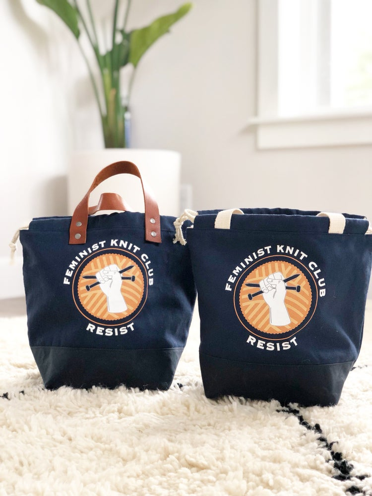 Image of PRE-ORDER Feminist Knit Club Project Bags