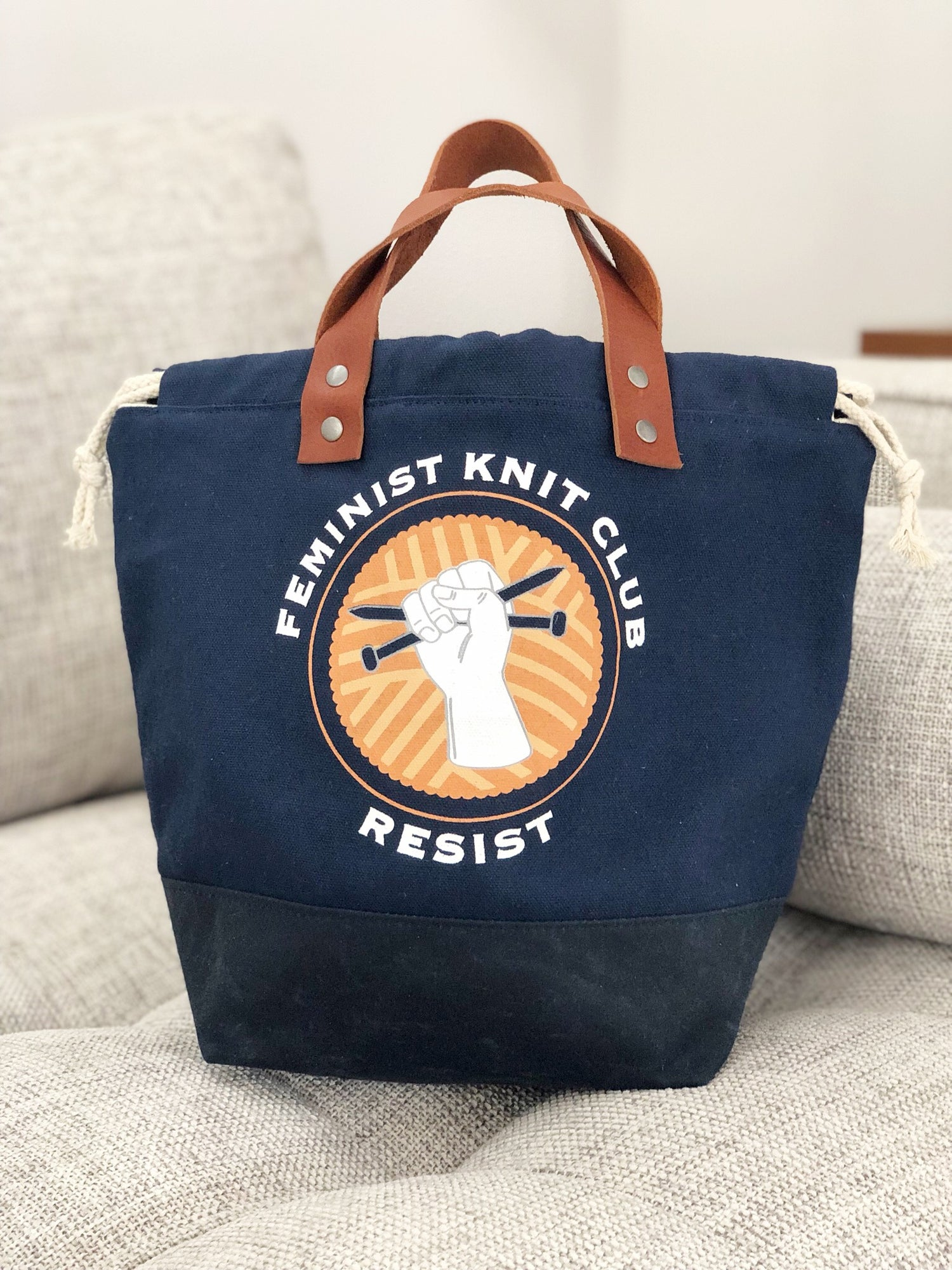 Image of PRE—ORDER Feminist Knit Club Project Bags