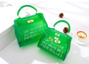 """Image of """"Un Voyage"""" Jelly Bags W/ Strap"""