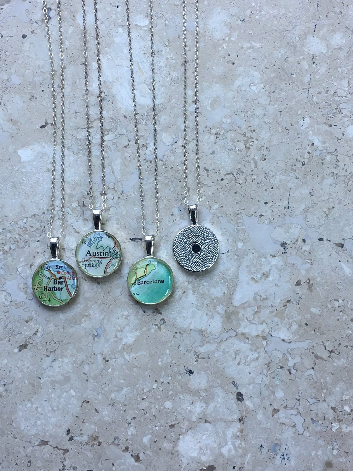 Image of Petite City Map Necklace