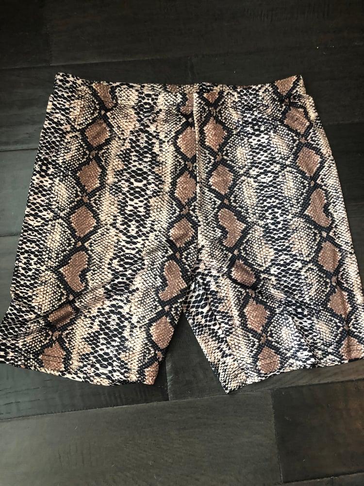 Image of Snake skin pattern shorts