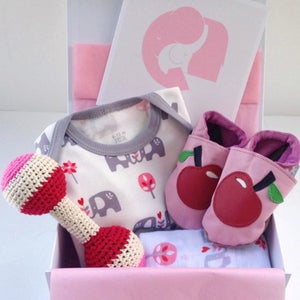 Image of Elephant & Apples Baby Girl Box